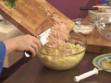 Картофени кюфтенца с шунка  2