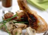 Пилешко бутче с маточина и зеленчуци
