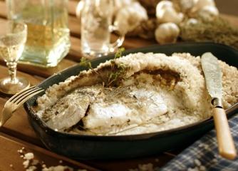 Риба, печена на сол