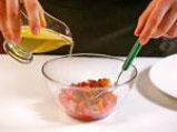 Тартар от риба тон с компот от банан и домат с шафран 2