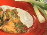 Багаинско блюдо със свинско и пресен лук