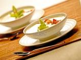 Крем супа от картофи, праз и бекон