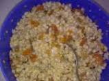 Жито с орехи, стафиди и сушени кайсии