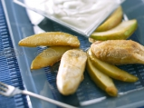 Карамелизирани плодове с крем