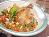 Пилешка яхния с грах и фенел