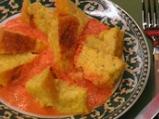 Царевичен флен с креолски сос