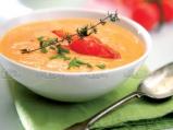 Супа от чери доматчета с яйце и фиде