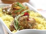 Пиле конфи с естрагон и лимонов ориз