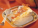 Сладоледена торта с праскови и кафе