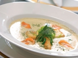 Крем супа от карфиол с крутони, пошир...