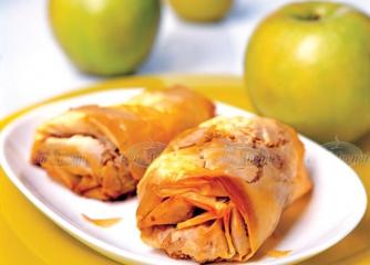 Резултат с изображение за щрудел с ябълки