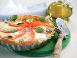 """Бърза тарта с домати, """"Моцарела"""" и риган"""
