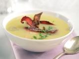 Крем супа с картофи и бекон
