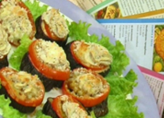 Патладжанено канапе с домати