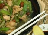 Пиле с бадеми и зелен фасул по китайски