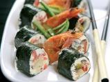 Суши от кисело мляко и зеленчуци