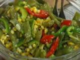 Царевична салата със зелен фасул 5