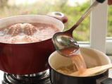Октопод на грил с ризото със сушени домати и маслини 2