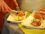 Козе месо с равиоли от тиквички и пюре от моркови 4