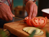 Зеленчуков тиан с прясно козе сирене и мармалад от домати 2