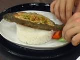 Пълнена пъстърва по китайски с глазирани зеленчуци 5