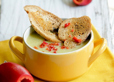 Зеленчукова крем супа с мляко