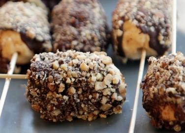 Бърз десерт с шоколадова коричка
