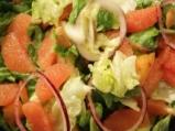 Зелена салата с грейпфрут и бадеми 5
