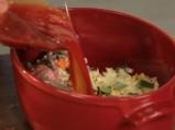 Печен заек с кафяв ориз и зеленчуци 3