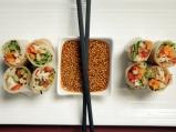 Букет от зеленчуци в оризови листа