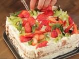Трицветна парти торта 12