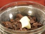 Шоколадово парфе с ментов мус и череши