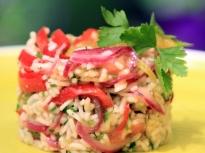Лятна оризова салата