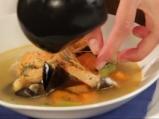 Супа от пъстърва с миди и скариди 6