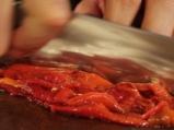 Салата от патладжани и домати с козе сирене 3