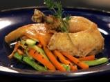 Пикантно пиле в сол със зеленчуци