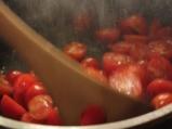 Пилешко с гъби и чери домати 3
