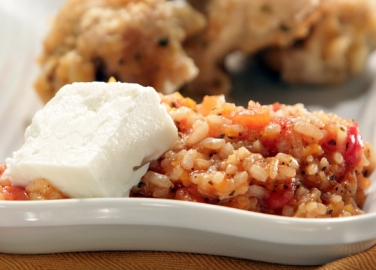Бърз ориз с домати