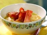 Зелева супа с бекон и горчица