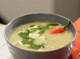 Бобена супа с праз и тиквички