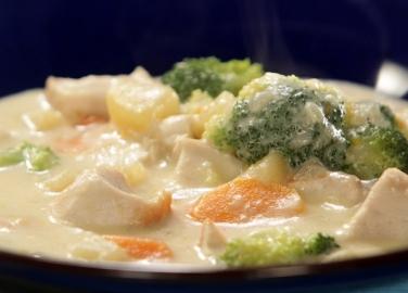 """Пилешко със зеленчуци и сос """"Бешамел"""""""