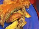 Свински гърди с ароматни картофи и до...