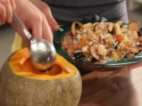 Пълнена тиква с ориз и сушени плодове 3