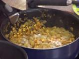 Фарфали със зелен доматен сос и царевица 2