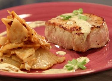 Свинско със сос от горчица