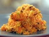 Ориз със сирена и маслини на тиган
