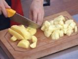 Къри пай с картофи и патладжани