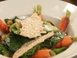 Пролетна салата с овесени крекери 9