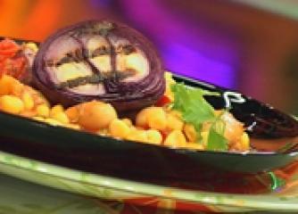 Бобена салата с доматен винегрет