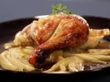 Печено пиле с резене